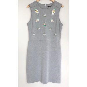 Sleeveless Knit Pineapple Embellished Dress